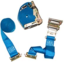 """2x 2"""" x 20' E-Track Logistic Ratchet Straps with E-Track and A-Track Fittings"""