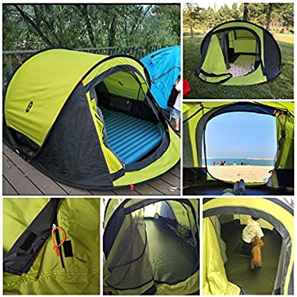 Zenph Pop Up Family Camping Tent, Waterproof Automatic Camping Tent,UV Cut for Camping Hiking Festivals 5