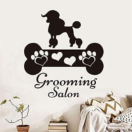 hllhpc Grooming Salon Dog Etiqueta de La Pared Divertida Perros ...