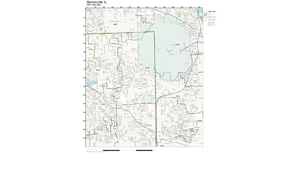Amazon Com Zip Code Wall Map Of Bensenville Il Zip Code Map Not