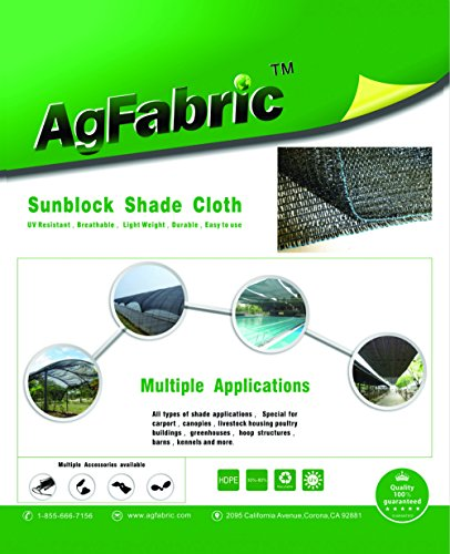 Agfabric 60% Sunblock Shade Cloth Cover with Clips for Plants 6.5' X 20', Black by Agfabric (Image #7)