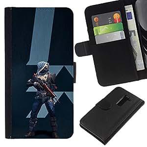 All Phone Most Case / Oferta Especial Cáscara Funda de cuero Monedero Cubierta de proteccion Caso / Wallet Case for LG G2 D800 // Future Warrior