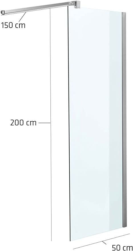 Mampara 50 x 200 x 150 cm cuadrado transparente.: Amazon.es: Jardín