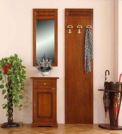 Arteferretto Set mobili arredamento ingresso: specchiera (43 x 99,5 ...