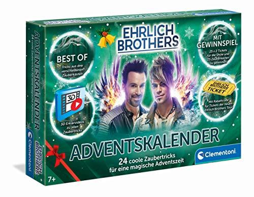 Clementoni- Ehrlich Brothers-Calendario de Adviento 24 Trucos, Caja mágica para niños a Partir de 7 años (59180)