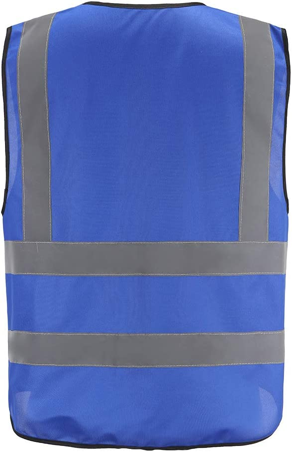 Multiple colors Class 2 hi vis Zipper Front High Visibility vest Hi Vis Executive Vest Waistcoat with Phone /& ID Pockets Yellow Orange 2 Two Tone Medium, yellow
