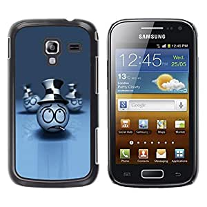Be Good Phone Accessory // Dura Cáscara cubierta Protectora Caso Carcasa Funda de Protección para Samsung Galaxy Ace 2 I8160 Ace II X S7560M // Smoking Face