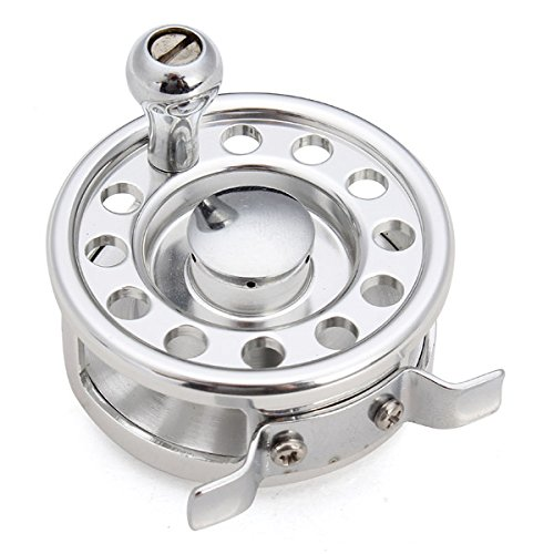 Pilot Spool - Aluminum Fish Line Raft Wheel Fly Fishing Tackle - Tent Flap Spin Tent-Fly Scottish Reel Front Lurch Flee Bobbin Flight Whirl Virginia Aviate Ball Waggle Vanish - 1PCs