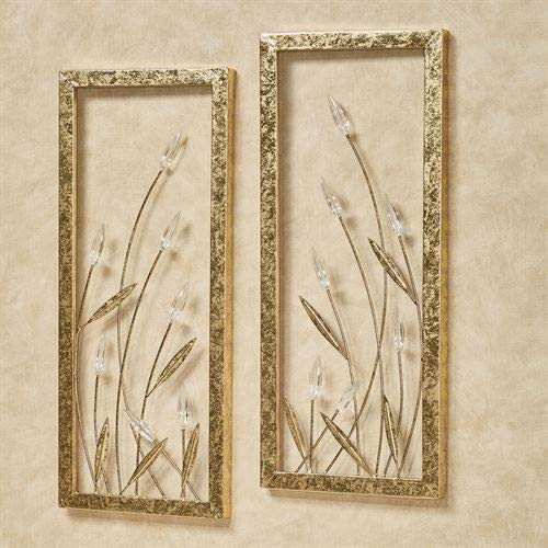 Flowing Stems Wall Art Gold Set of Two