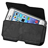 Kuteck® Black Horizontal Leather Belt Holster Pouch Clip Fits FOR APPLE IPHONE 6 PLUS 5.5