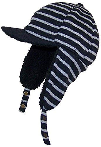dy-striped-elmer-fudd-style-trooper-hat-w-berber-ear-flaps-visor-one-size-black