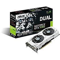 ASUS DUAL-GTX1060-6G - Tarjeta gráfica (Dual, NVIDIA GeForce GTX 1060, 6 GB, GDDR5 HDMI, DVI, DP) color blanco