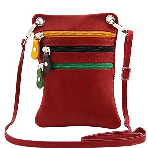Red Bag Red Leather Mini TLBag Lipstick Soft Leather Cross Tuscany Y4fwPUq8Yx