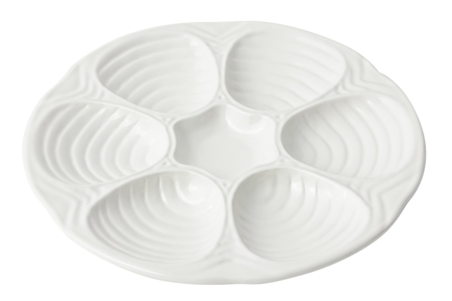 Bon Chef 5017BLK Aluminum Oyster/Clam Plate, 10-1/2