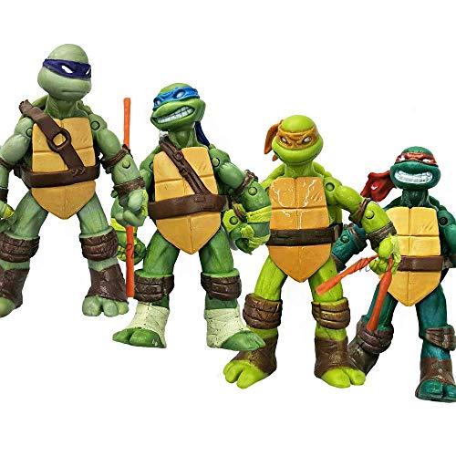 Ninja Turtles Action Figures Mutant Teenage Set 4pcs (Teenage Mutant Ninja Turtles Action Figures 4 Pack)