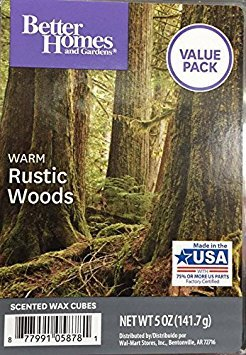 Better Homes and Gardens Warm Rustic Woods Value Pack scented wax cubes 5.0 OZ from Better Homes & Gardens