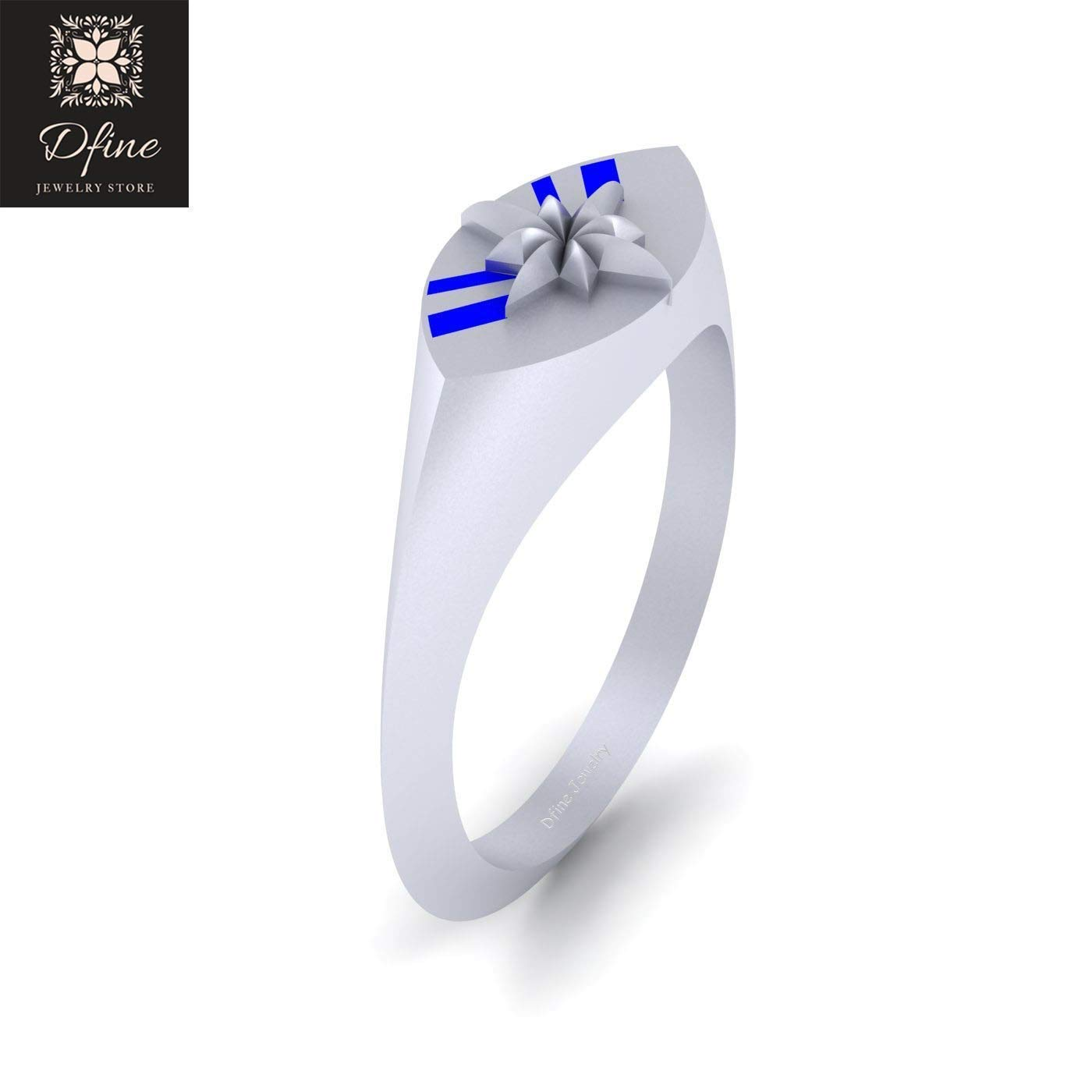 It is just a picture of Amazon.com: Superhero Theme Wedding Ring Solid 46k White Gold
