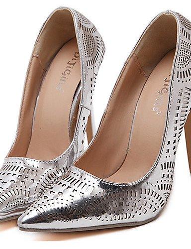 Puntiagudos Mujer Cn40 Uk6 Zapatos us8 5 Silver Stiletto Vestido confort Eu39 pu Zq Oro boda De 5 tacones plata tac¨®n YAq4Ew