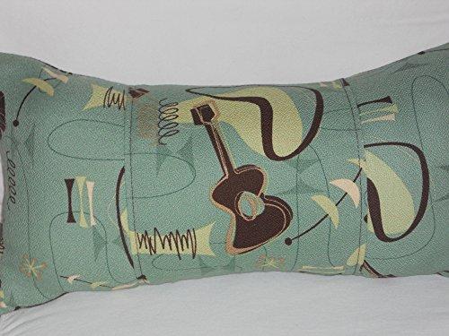 Atomic 100% Cotton Hawaiian Barkcloth Fabric LUMBAR PILLOW ~Jetson~