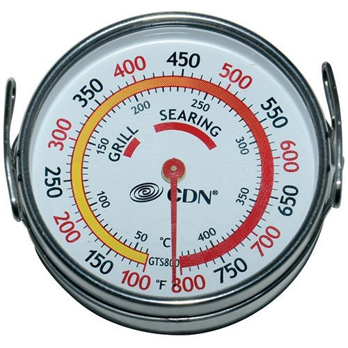 Grill Surface Thermometer - 100 to 800 Degree Temperature Range 1 Each