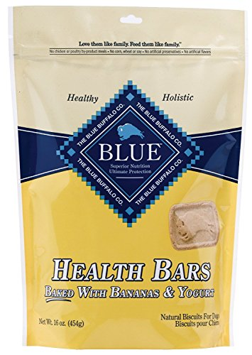 Blue Buffalo Health Bars for Dogs, Banana Yogurt, 16-Ounce Bag(2Pack)