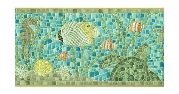 Amazon.com: Cenefa de papel pintado con textura de cojín ...