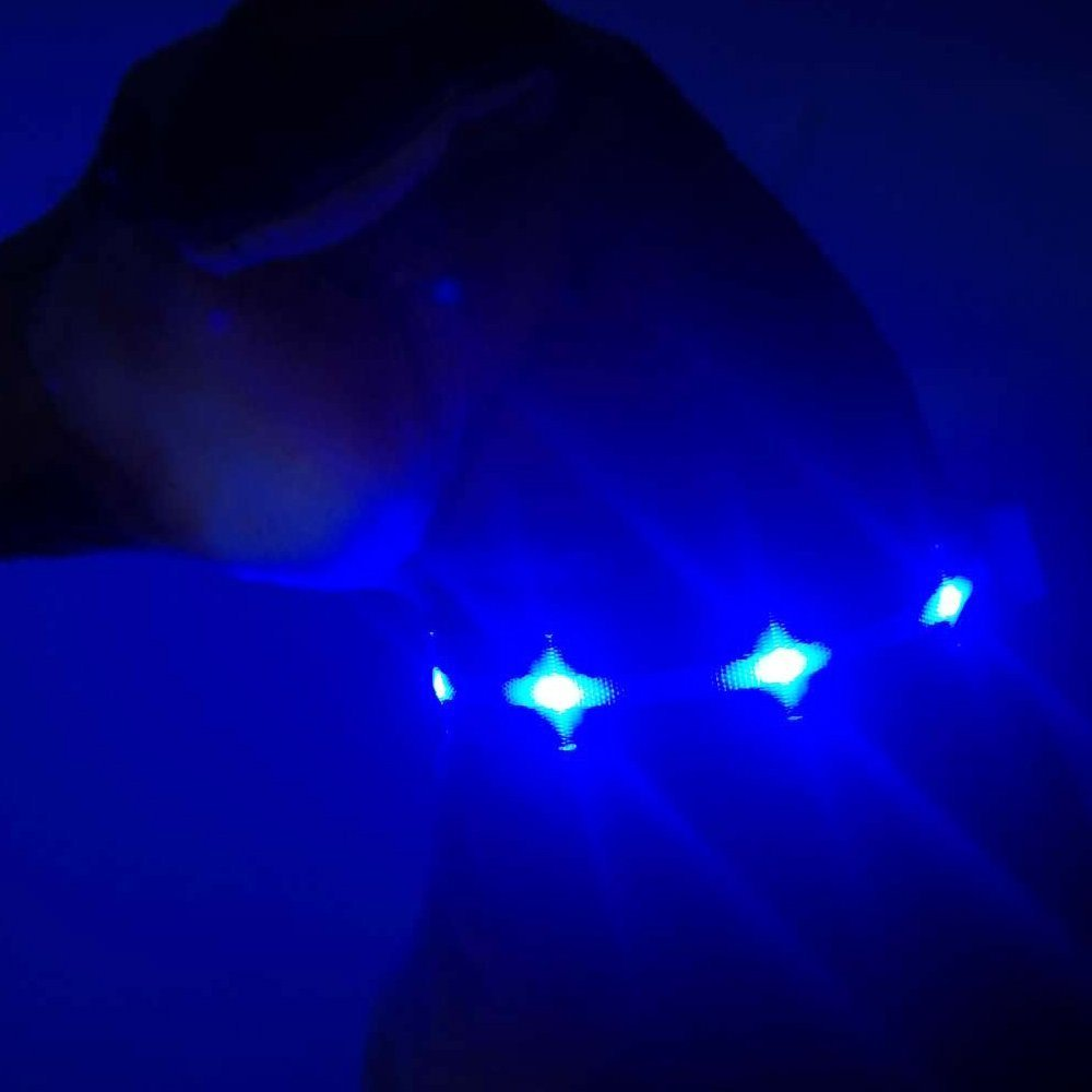 Dazzle-Star LED Flashing Pet Collar LED Light-Up Safety Neck Loop Collar by MASBRILL Weather-Proof LED Dog Necklace Collar Perfect for Pets Dog L, Black-Green