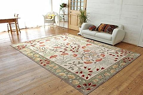 5 x 8 Handmade Lavish Leaves Rug Traditional Persian Oriental Floral Rug & Carpet & Carpet - Tufted Zebra Rug