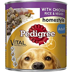 Pedigree Homestyle with Chicken Rice & Veggies Wet Dog Food Can 700g Click on image for further info.