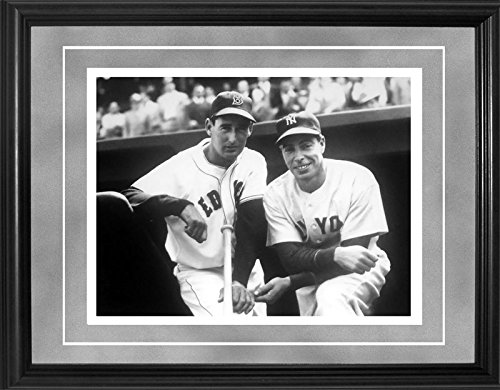 - Ted Williams and Joe DiMaggio Framed Black & White 11x14 Original Brearley Collection Photo