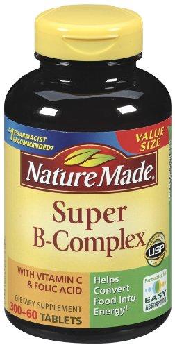 Nature Made super Comprimés complexe B, valeur de la taille, 360 comte