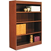 Alera BCS44836MC Square Corner Wood Bookcase, Four-Shelf, 35-5/8w X 11-3/4d X 48h, Medium Cherry