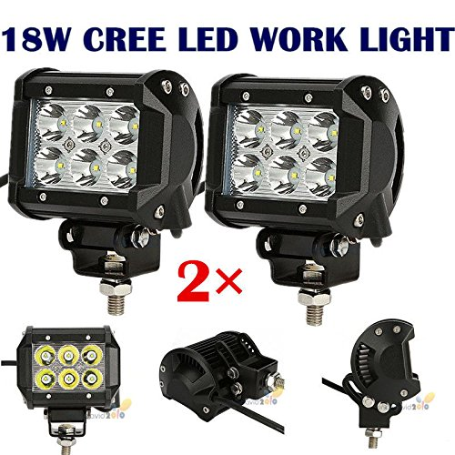 2x 18W 4'' Cree LED Work Light Bar Spot Beam Offroad 4WD UTE SUV Fog Driving Lamp by Unknown