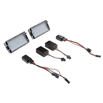 Baoblaze Luz de Matrícula Iluminación Exterior LED para Automoviles, 2 Unidades: Amazon.es: Coche y moto