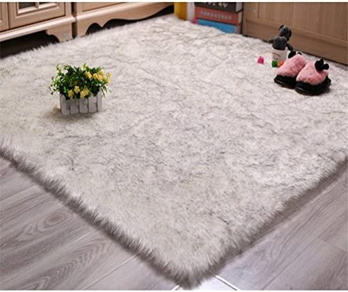 Soft Silky Fluffy Shag Faux Sheepskin Area Rug,Chair Cover Home D cor Accent