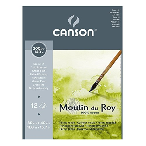 Moulin Du Roy Watercolor Pad Cold Press 12X16 by Moulin du Roy by Moulin du Roy