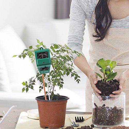 Jellas Soil pH Meter, 3-in-1 Moisture Sensor Meter/Sunlight/pH Soil Test Kits Test Function for Home and Garden, Plants, Farm, Indoor/Outdoor Use by Jellas (Image #5)