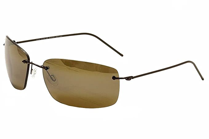 1a41acf1af Maui Jim H716-25A MP-BG Dark Brown Frigate Rimless Sunglasses Polarised  Lens Ca  Amazon.co.uk  Clothing