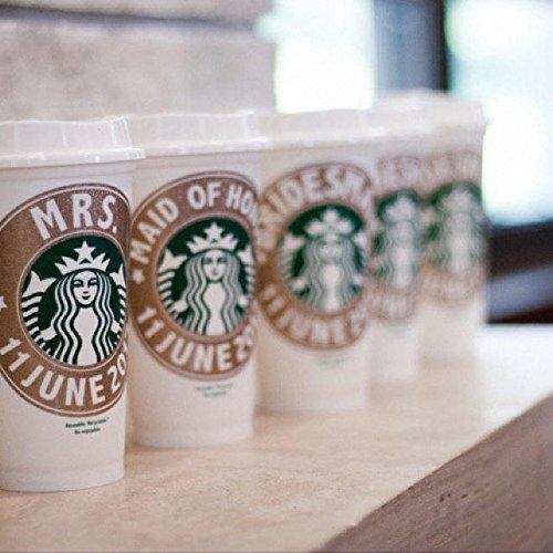 Starbucks Cup, Bridesmaid Gift, Starbucks Personalized Coffe