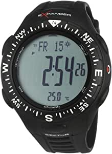 Sector Expander Outdoor R3251174025 - Reloj de caballero de cuarzo, correa de silicona color negro