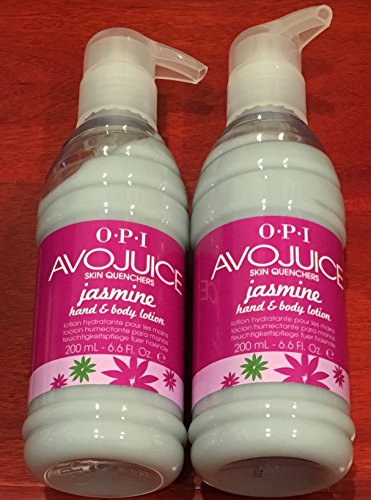 Jasmine Hand Polish (Avojuice Skin Quenchers Jasmine Hand & Body Lotion 6.5oz/200mL x 2 Piece)