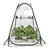 RTWAY Mini Greenhouse, Small Pop Up Greenhouse Plant Covers Indoor Outdoor Gardening Backyard Flower Shelter, 28'' L x 28'' W x 31'' H