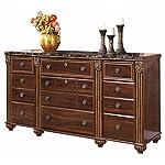 Ashley Furniture Signature Design - Gabriela Dresser - 9 Drawers - Traditional - Replicated Mahogany Grain - Dark…