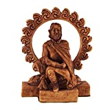 Small Celtic God Lugh Statue Wood Finish