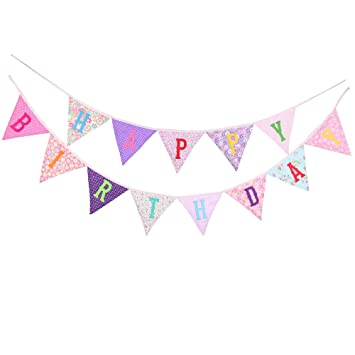 ysister Banner de Feliz cumpleaños, decoración de la Fiesta ...