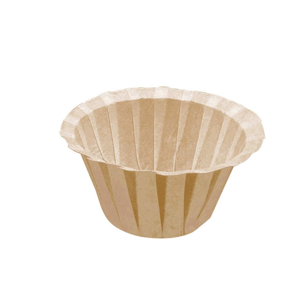 oldeagle Coffee Filter Paper Cup, Disposable K-Cup Coffee Paper Filters for Keurig Single Serve Filter | Pack of 10 (Khaki) by oldeagle (Image #2)