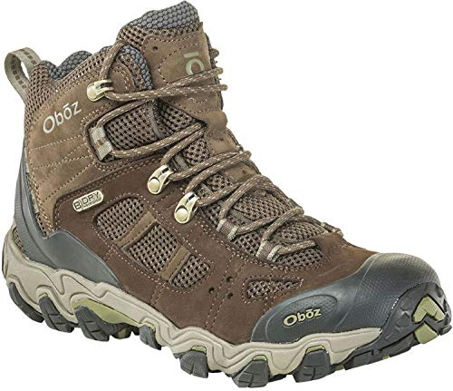 (Oboz Bridger Vent Mid B-Dry Hiking Boot - Men's Slate Brown/Mayfly Green 13 Wide)