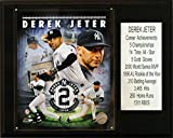 MLB Derek Jeter New York Yankees Career Stat Plaque, Brown, 12 x 15-Inch