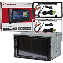 """Pioneer Double DIN 2DIN AVH-210EX 6.2"""" Touchscreen Car Stereo MP3 CD DVD Player Bluetooth USB with DCO Full License Plate Night Vision Waterproof Back-up Camera (Optional Color)"""