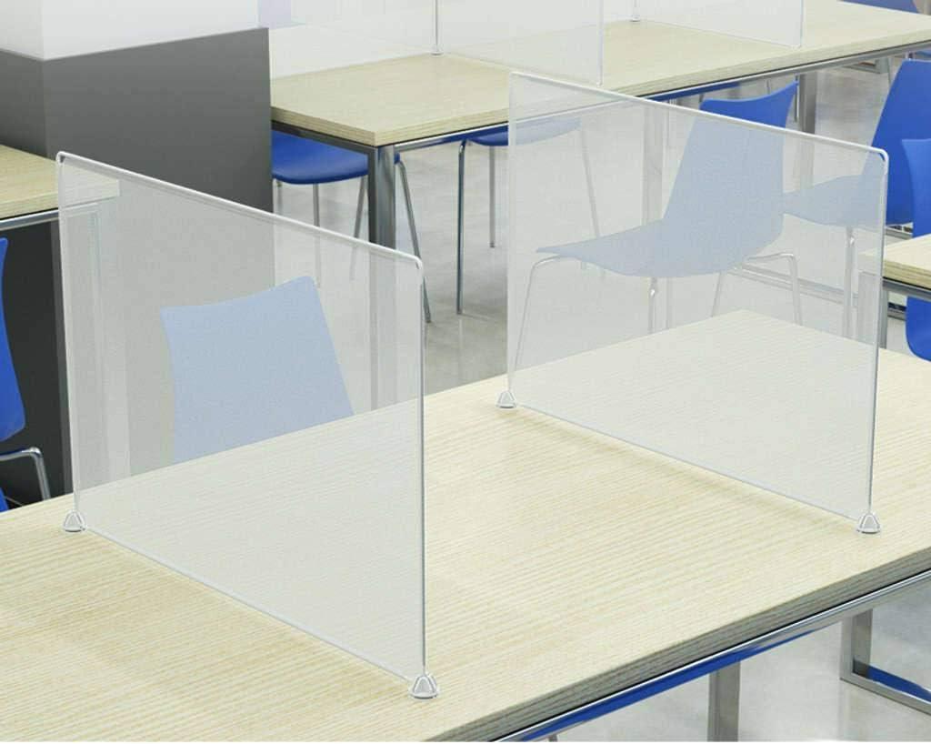 HKPLDE Separateur Bureau pour Table Separateur Bureau Plexiglass S/éparateurs De Bureau DIY /Écran De S/éparation pour Office Salle De Cours Restaurant-30X45cm
